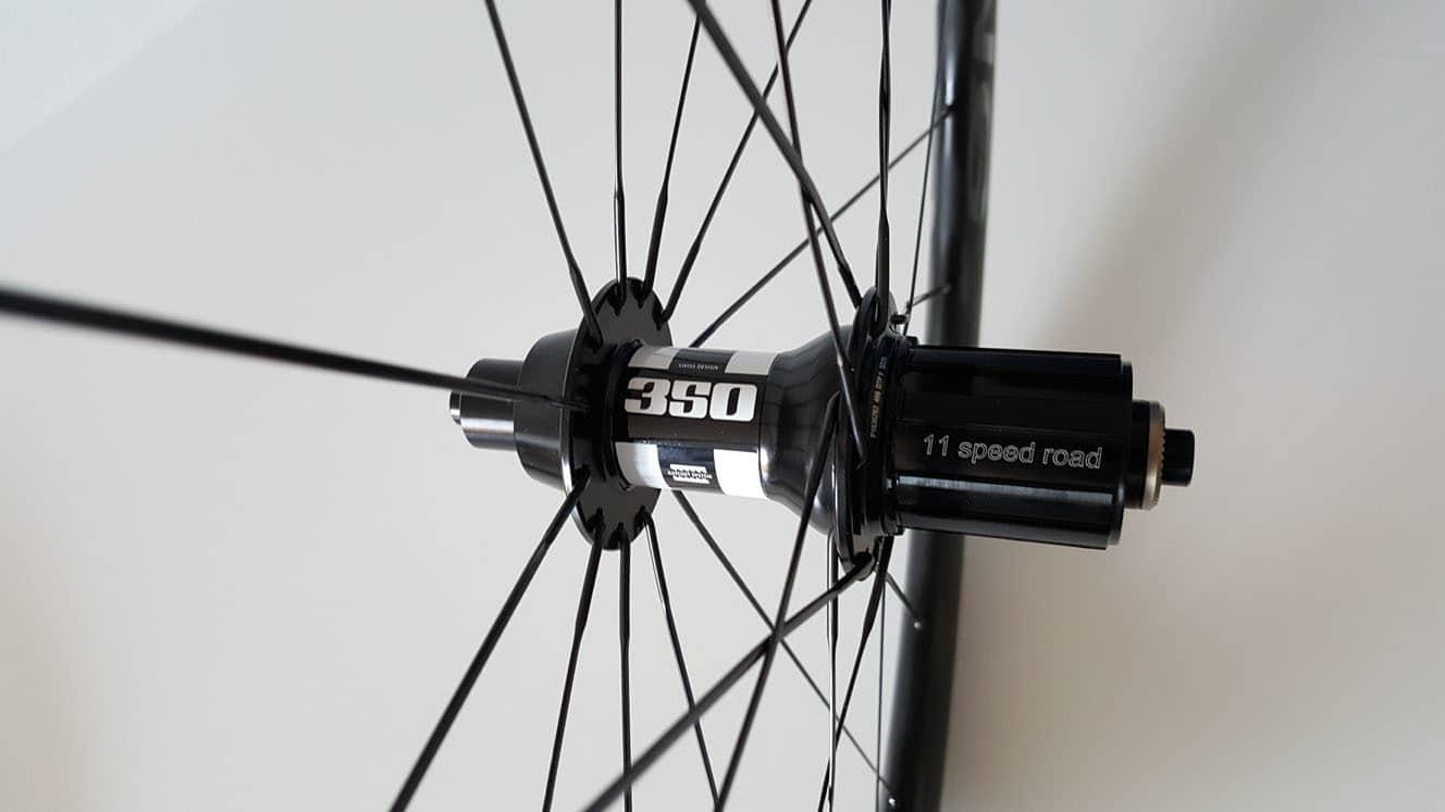 Carbon wielen met DT Swiss 350 achternaaf