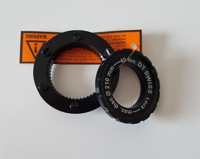 DT Swsis centerlock adapter voor 6 gaats remschijven