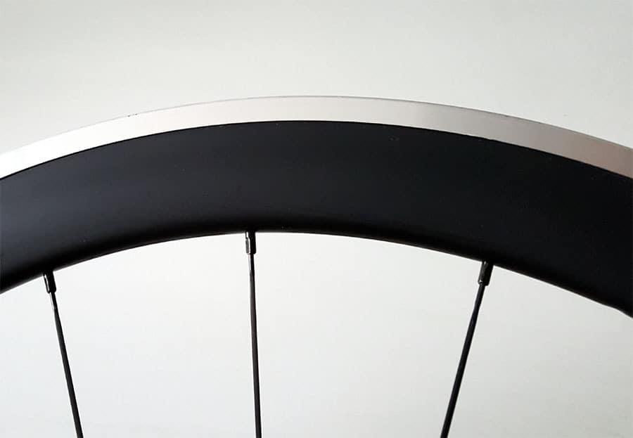 50mm carbon velg met aluminium remrand