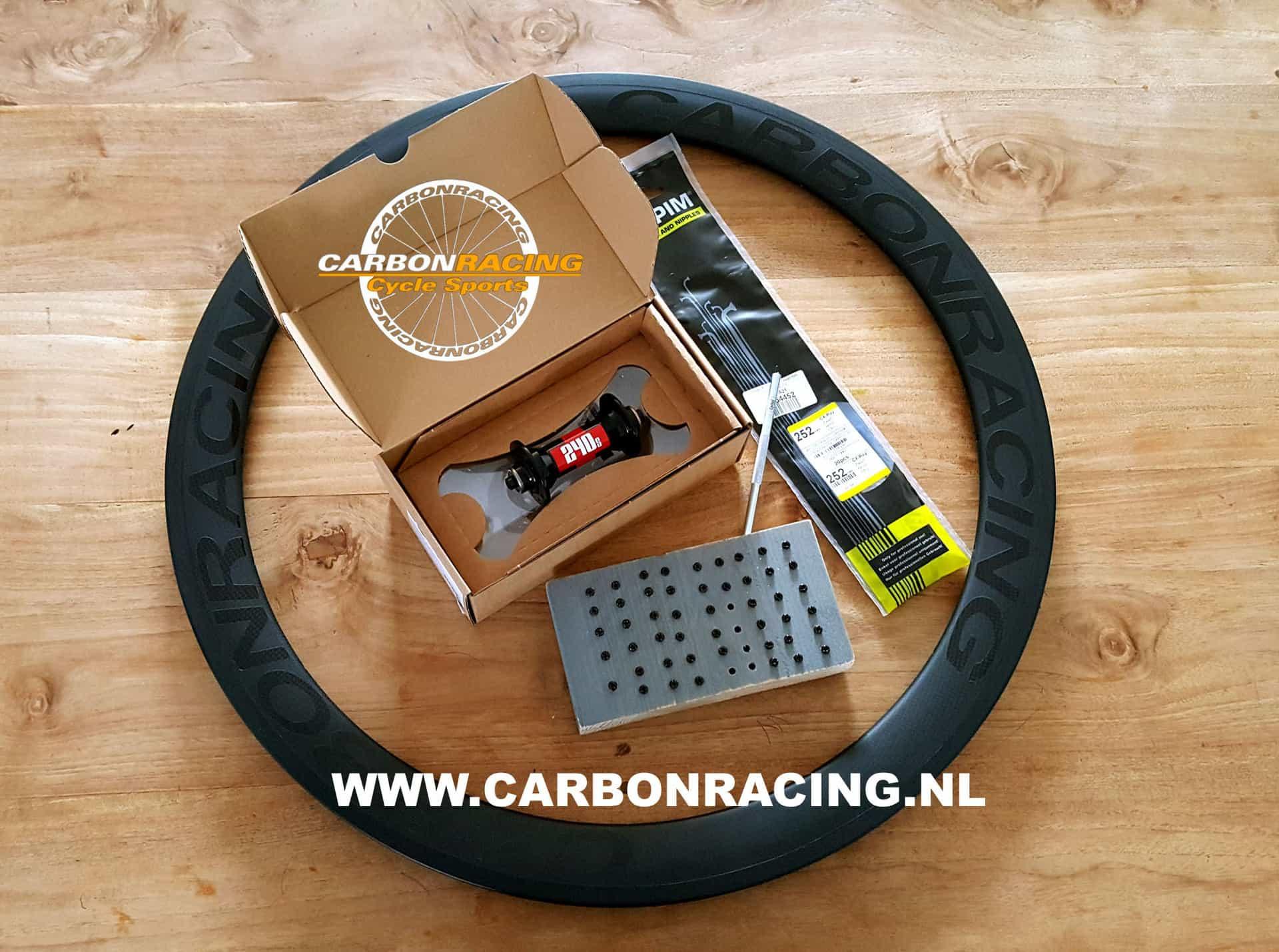 Handgespaakte wielen van CARBONRACING