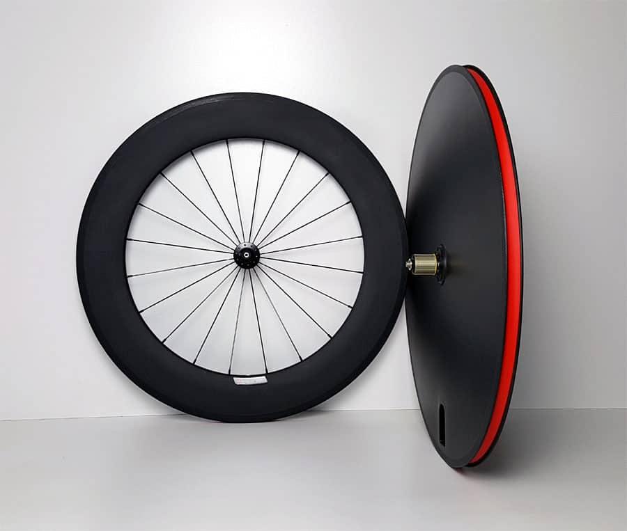 TD wielset met 88mm voorwiel en gesloten (disc) achterwiel