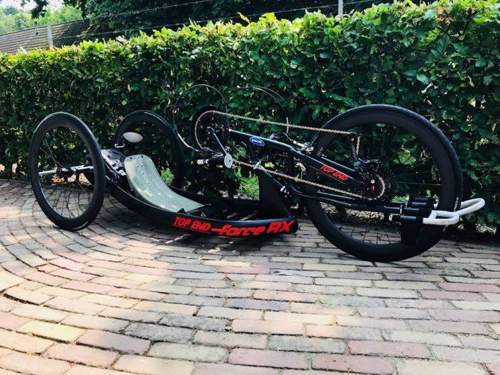 Top End hand bike met CARBONRACING wielen