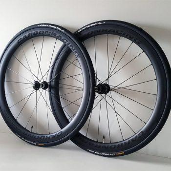 CR5-44 carbon wielen met 44mm hoge velgen, SAPIM CX-RAY spaken en DT Swiss 350 naven
