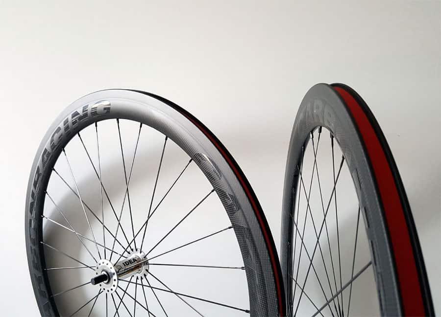 50mm hoge carbon velgen voor rolstoel of handbike gebruik