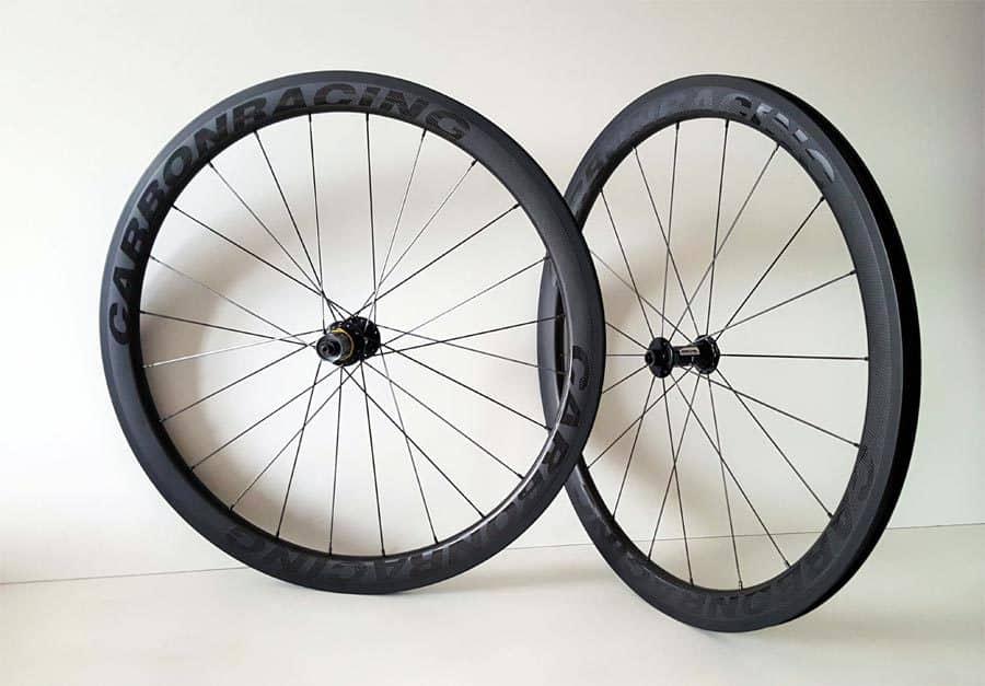 Nieuw CR1-44 carbon wielen met Miche naven en 44mm hoge velgen - Carbon FR-28