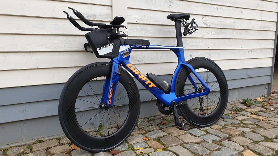 Giant tijdrit fiets met 88mm wielen