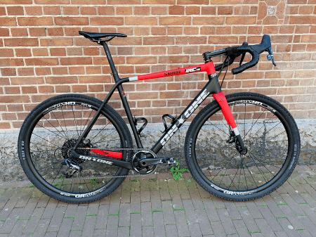 Model GR531 op de gravel fiets van Fons